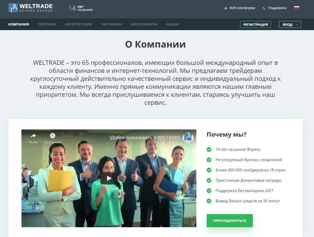 информация о компании weltrade