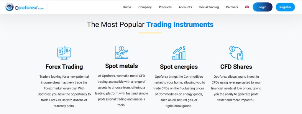 opoforex торговые инструменты