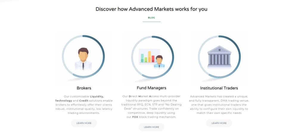 торговые условия advanced markets