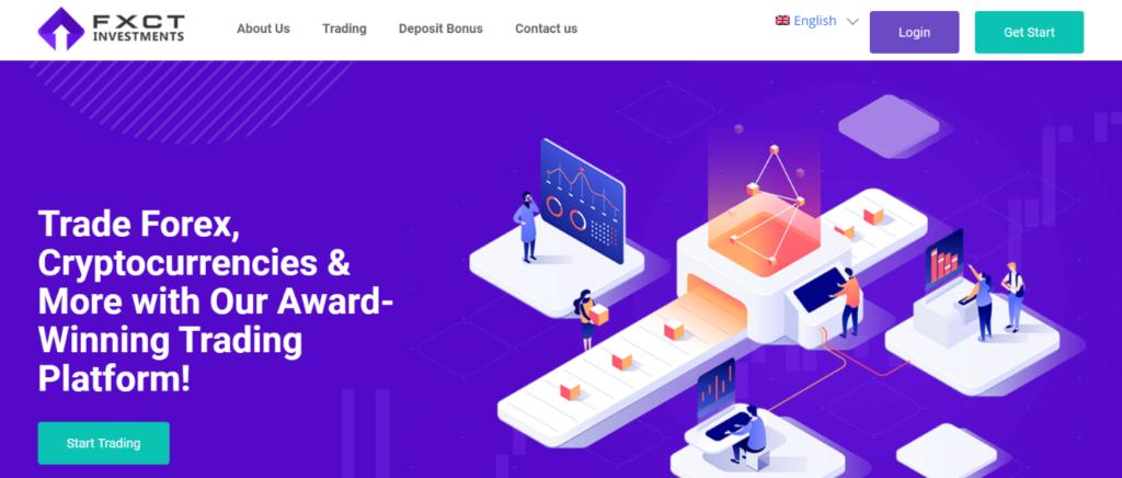 главная станица сайта fxct investments